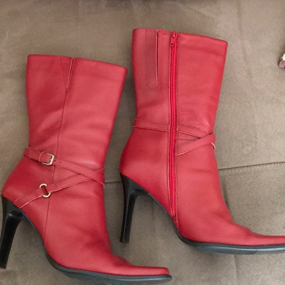 f65ba4d801 Paolo Ruggeri Shoes | Fall Sale Paola Ruggeri Red Leather Booties ...